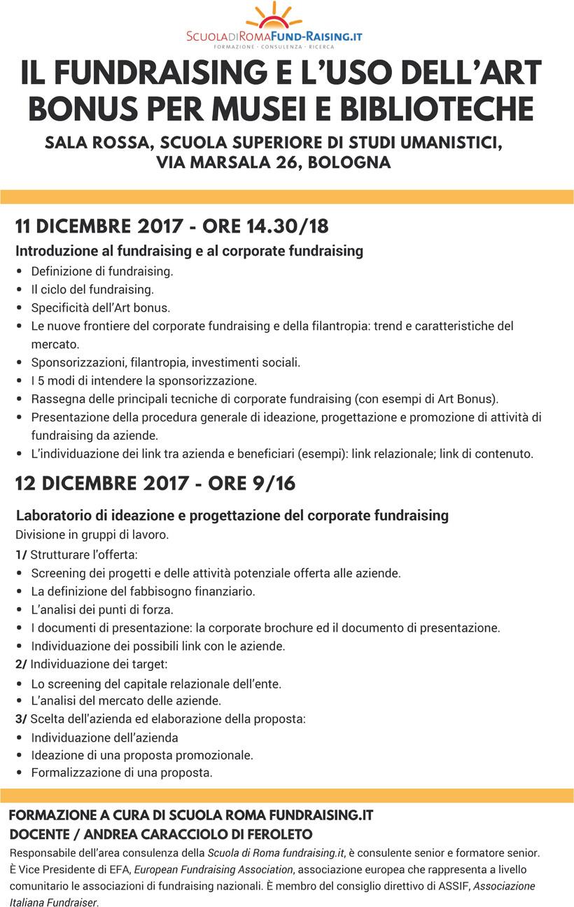 Programma del workshop su Art Bonus e biblioteche